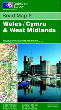 Wales and West Midlands (Road Map) by Ordnance Survey