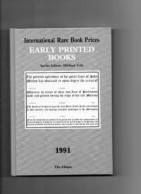 Early Printed Books 1991