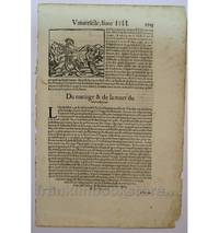 1568 Cosmographia A Knight Beheading a Prisoner & Matthias Corvinus on Coinage
