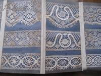 Hand-made Torchon Lace Sample Book, manufactured by JOHN H. CLARKE. (Real lace), 1800s, Chefoo (YanTai) N. China