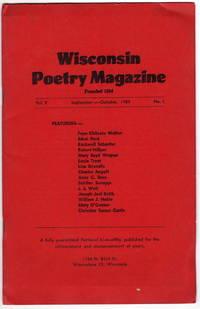 Wisconsin Poetry Magazine: September-October 1959. Volume V, Number I.