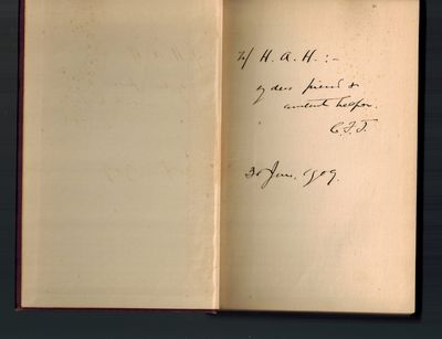 Boston: Houghton Mifflin, 1909. SIGNED AND INSCRIBED BY AUTHOR on front end page -