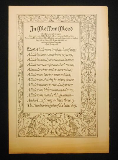 : John Henry Nash, 1935. Limited Edition. No binding. Near fine. One of 500 copies, elephant folio s...
