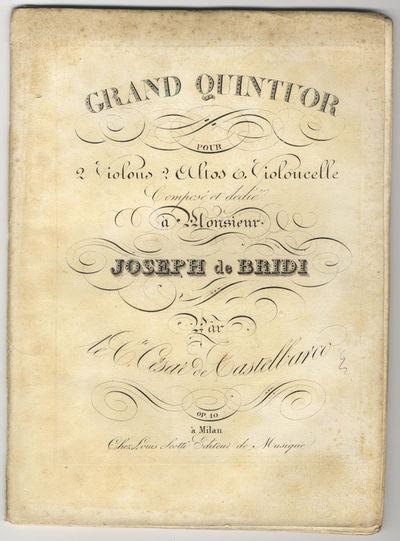 Milan: Louis Scotti , 1826. Folio. Violino Primo sewn; other parts unbound. Violino Primo: 1f. (titl...