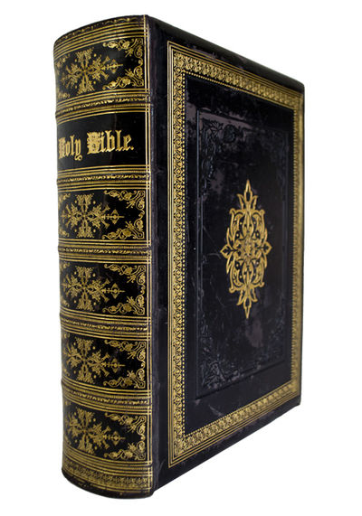 A Family Bible with Six of the John Martin Bible Illustrations . The Holy Bible, Containing the Old ...