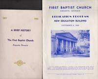 1938-1951 small archive of the First Baptist Church of Augusta Georgia programs, bulletins, documents, and misc. information on it's history, centennial and the construction of a new Church building