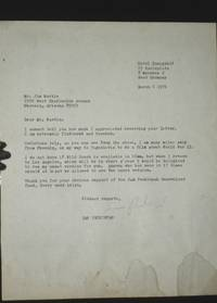 1 TLS (Typed Letter Signed) on the Wild Bunch, March 6, 1976