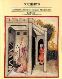 Sale 17 Dec. 1991: Western Manuscripts and Miniatures.