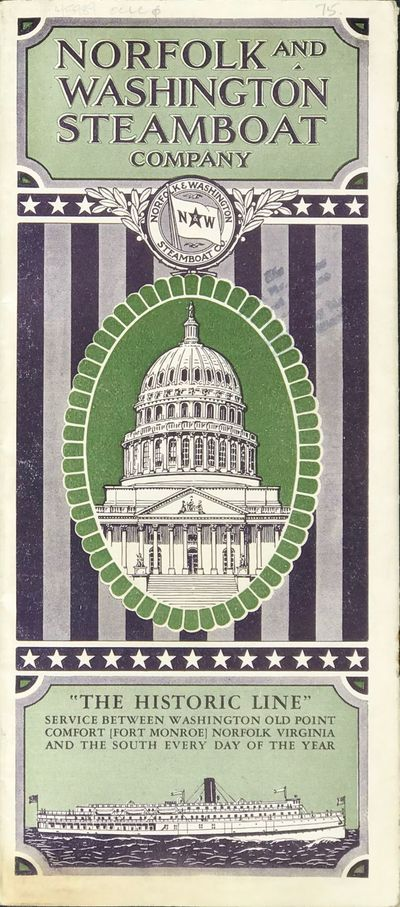 (Washington, DC: The company), 1930. Small 4to folded to narrow 8vo. (15) pp. Illustrated, map, deck...