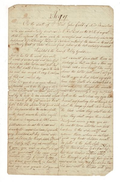 Oakham, : September 2, 1815. Bifolium approx. 16