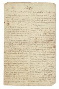 Manuscript elegy on the death of Dr. John Field of New Braintree who was accidentally downed in Rutland on the 28th of August, 1815 ... Adapted to the tune of Polly Gould