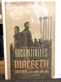 Poster for Orson Welles' Macbeth