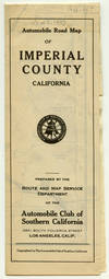 Automobile Road Map of Imperial County California.