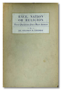RACE, NATION OR RELIGION. THREE QUESTIONS JEWS MUST ANSWER
