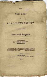 The Ninth Letter To Lord Hawkesbury, Relative To The Peace With Bonaparte