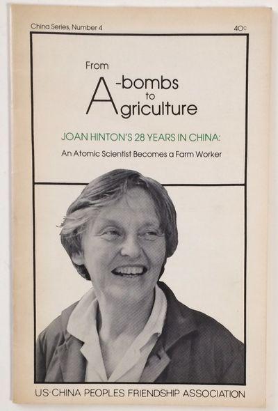 Los Angeles: US-China Peoples Friendship Association, 1978. Paperback. 22p., staplebound pamphlet, m...
