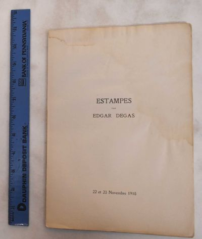 Paris: Galerie Georges Petit, 1918. Softcover. Fair, sold as a reference copy only. Ancient dampstai...