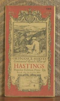 ORDNANCE SURVEY CONTOURED ROAD MAP OF HASTINGS Popular edition  Scale 1 inch to 1 mile- Sheet # 135