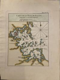 Carte de la Baye de Baston Situee dans la Nouvelle Angleterre