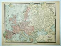 1889 Color Map of Europe