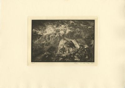 , 1977. Underhill, Linn. A richly toned photogravure, image size 7 1/2 x 6 1/16 in. printed with pla...
