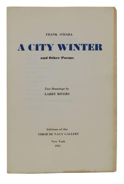 New York: Tibor de Nagy Gallery, 1951. First Edition. Unbound. Near Fine. New York School of Poets, ...