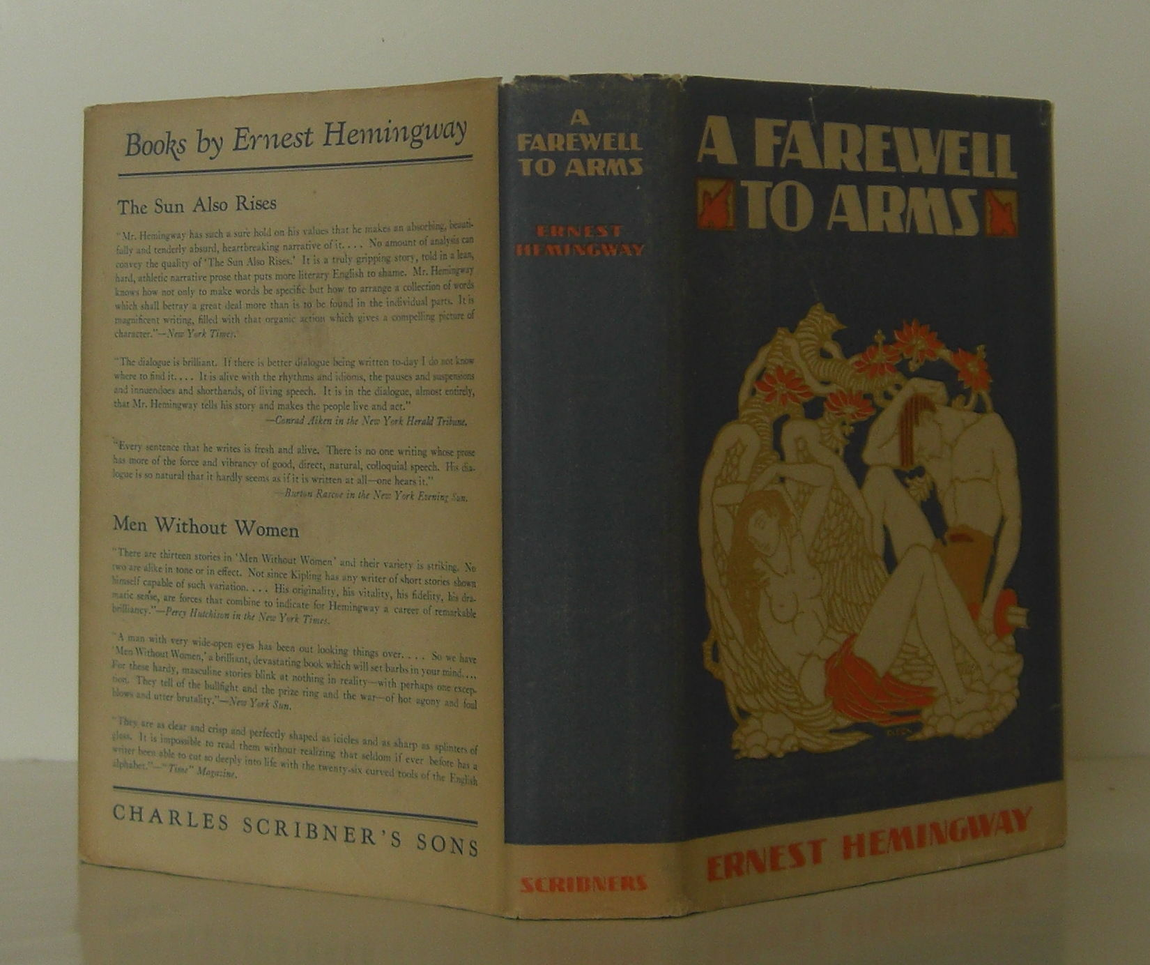 a review of ernest hemingways a farewell to arms A farewell to arms is a book written by ernest hemingway that was  also write  an analysis of the hemingway's word usage and writing style.
