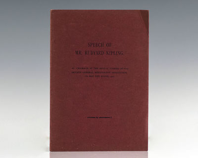 : Privately Printed, 1907. First edition of this scarce privately printed pamphlet documenting Kipli...