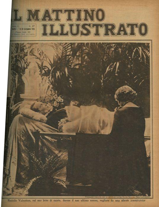 Rodolfo valentino sul suo letto di morte dorme il suo for Piani letto log gratuiti