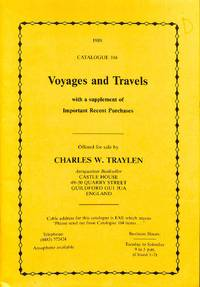 1989 - Catalogue 104 -Voyages and Travels with a Supplement of Important  Recent Purchases