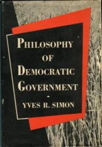image of Philosophy Of Democratic Government