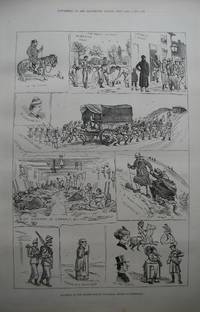 Incidents of the Easter Monday Volunteer Review at Dunstable. by Engraving - 1877 - from N. G. Lawrie Books. (SKU: 47154)
