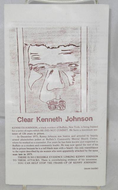 Buffalo, NY: The Kenneth Johnson Defense Fund, 1976. Six-panel brochure, 4.75x8.5 inches, very good....
