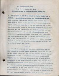 U.S. CIRCUMFERENCE TRIP,  JULY 10-AUGUST 20, 1948,  TRAVELED BY JOHN M. HUBBARD AND BRAD RANDALL, JR.