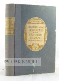 Bonn: Marcus & Weber, 1919. later quarter cloth with original paper-covered boards, paper spine and ...