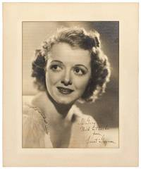 Large Photograph Inscribed by Janet Gaynor to Gray Delmar