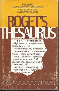 image of Roget's Thesaurus Of Synonyms And Antonyms