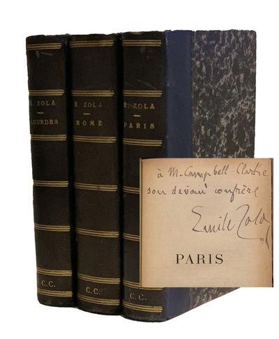 Paris: Bibliotheque-Charpentier, 1894, 1896, 1898 Three volumes. First editions. Presentation copy; ...