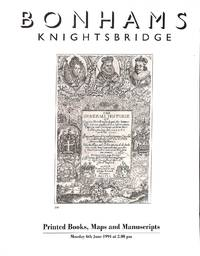 Sale 6 June 1994: Printed Books, Maps and Manuscripts. Art Reference and  Bibliography, Modern Firsts, Limited Editions and Children's Illustrated,  General Literature, Sporting and Military ....
