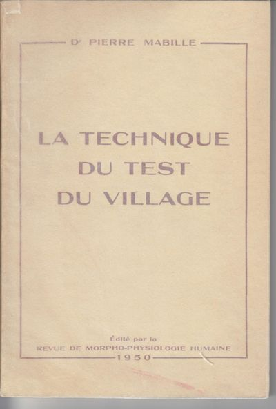 Paris: Revue De Morpho-Physiologie Humaine. 1950. First Edition; First Printing. Softcover. Wraps in...