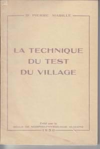 La Technique Du Test Du Village