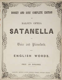 Satanella for Voice and Pianoforte, with English Words. [Piano-vocal score]