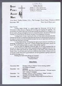 Saint Peter's Anlaby News & York Diocesan Leaflet - December 1987