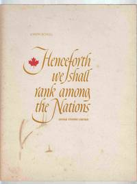 Henceforth We Shall Rank Among Nations