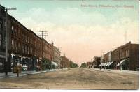 image of View of Main Street, Tilsonburg, ONT Canada on 1909 Colorized Postcard - UNUSED