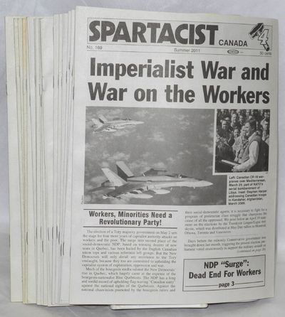 Toronto: Spartacist League, 1990. Magazine. All printed on newsprint, early issues evenly toned, 8.5...