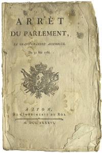 Arrêt du Parlement, la Grand' Chambre Assemblée, Du 31 Mai 1786