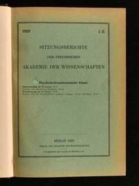 Sitzungsberichte der Preussischen Akademie der Wissenschaften