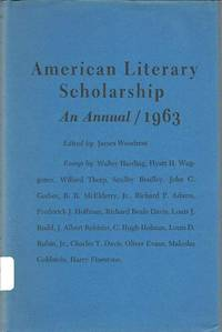 image of American Literary Scholarship: an Annual / 1963