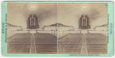 Salt Lake City: Pioneer Art Gallery, 1870. Stereoview. Albumen photograph. on a green mount Faint ru...